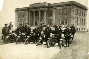 Review-of-Motorcycle-Police-1930s-in-Front-of-Town-Hall