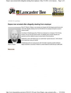 thumbnail of 2016- 05-19 Man arrested stealing from employer BEE News