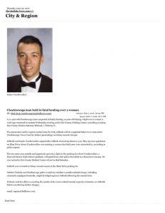 thumbnail of 2016- 06- 01 Cheektowaga man held in fatal beating over a woman – City & Region – The Buffalo News