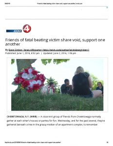thumbnail of 2016- 06- 01 Friends of fatal beating victim share void, support one another _ wivb