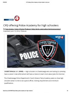 thumbnail of 2016- 06- 13 CPD offering Police Academy for high schoolers _ wivb