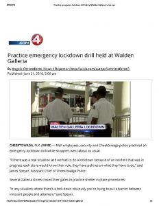 thumbnail of 2016- 06- 21 Practice emergency lockdown drill held at Walden Galleria _ wivb
