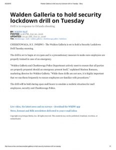 thumbnail of 2016- 06-21 Walden Galleria to hold security lockdown drill on Tuesday – Story