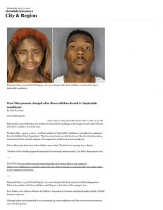 thumbnail of 2016- 07-13 West Side parents charged after three children found in 'deplorable conditions' – City & Region – The Buffalo News