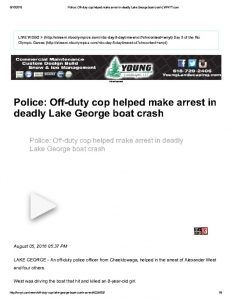 thumbnail of 2016- 08-05 Police_ Off-duty cop helped make arrest in deadly Lake George boat crash _ WNYT