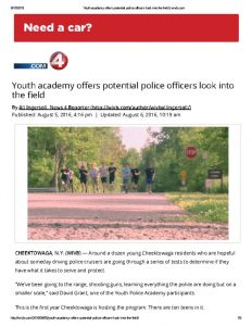 thumbnail of 2016- 08-05 Youth academy offers potential police officers look into the field _ wivb