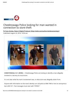 thumbnail of 2016- 08-23 Cheektowaga Police looking for man wanted in connection to store theft _ wivb