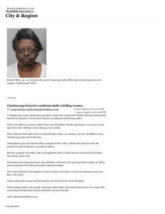 thumbnail of 2016- 08-31 Cheektowaga detective confronts knife-wielding woman – City & Region – The Buffalo News