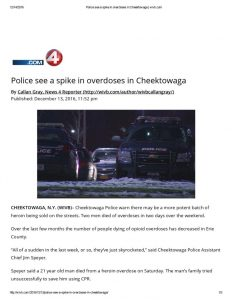 thumbnail of 2016- 12-13 Police see a spike in overdoses in Cheektowaga _ wivb