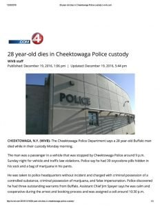 thumbnail of 2016- 12-19 28 year-old dies in Cheektowaga Police custody _ wivb
