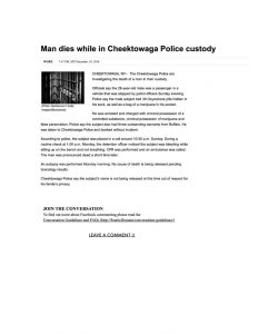 thumbnail of 2016- 12-19 Man dies while in Cheektowaga Police custody _ WGRZ