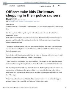 thumbnail of 2016- 12-21 Officers take kids Christmas shopping in their police cruisers – WBKW