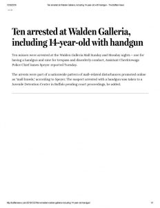 thumbnail of 2016- 12-27 Teen arrested at Walden Galleria, including 14-year-old with handgun – The Buffalo News