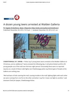 thumbnail of 2016- 12-28 A dozen young teens arrested at Walden Galleria _ wivb