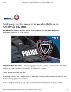 thumbnail of 2016- 12-28 Multiple juveniles arrested at Walden Galleria on Christmas, day after _ wivb