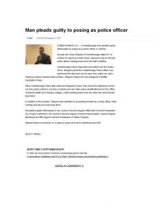 thumbnail of 2017- 01-25 Man pleads guilty to posing as police officer _ WGRZ