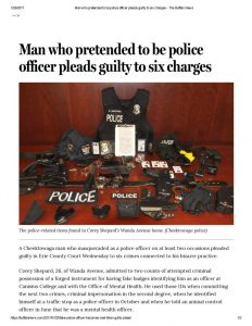 thumbnail of 2017- 01-25 Man who pretended to be police officer pleads guilty to six charges – The Buffalo News