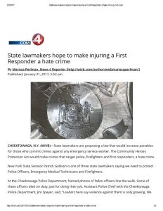 thumbnail of 2017- 01-31 State lawmakers hope to make injuring a First Responder a hate crime _ wivb