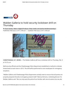 thumbnail of 2017- 02-06 Walden Galleria to hold security lockdown drill on Thursday _ wivb