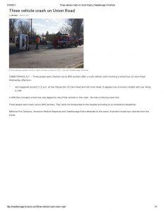 thumbnail of 2017- 03-08 Three vehicle crash on Union Road _ Cheektowaga Chronicle