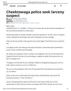 thumbnail of 2017- 03-20 Cheektowaga police seek larceny suspect – WKBW