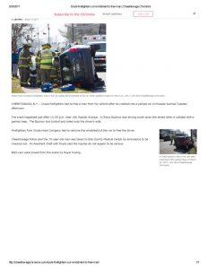 thumbnail of 2017- 03-21 Doyle firefighters cut windshield to free man _ Cheektowaga Chronicle