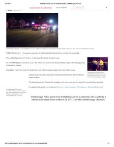 thumbnail of 2017- 03-23 Pedestrian hit by car on Genesee Street _ Cheektowaga Chronicle