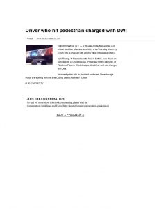 thumbnail of 2017- 03-24 Driver who hit pedestrian charged with DWI _ WGRZ