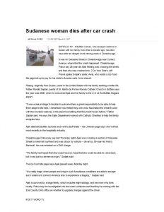 thumbnail of 2017- 03-31 Sudanese woman dies after car crash _ WGRZ