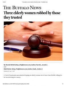 thumbnail of 2017-04-07 Three elderly women robbed by those they trusted – The Buffalo News