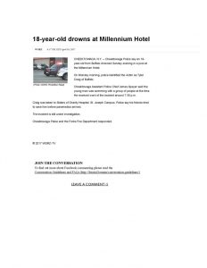 thumbnail of 2017- 04-10 18-year-old drowns at Millennium Hotel _ WGRZ