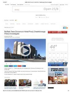 thumbnail of 2017- 04-10 Buffalo Teen Drowns in Hotel Pool, Cheektowaga Police Investigate_TWC