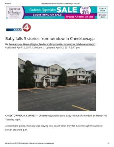 thumbnail of 2017- 04-12 Baby falls 3 stories from window in Cheektowaga _ wivb