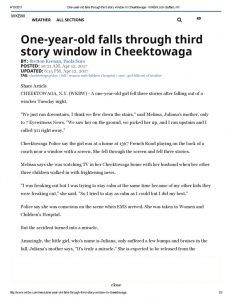 thumbnail of 2017- 04-12 One-year-old falls through third story window in Cheektowaga – WKBW