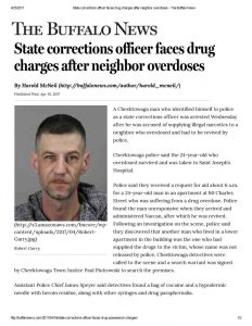 thumbnail of 2017- 04-19 State corrections officer faces drug charges after neighbor overdoses – The Buffalo News