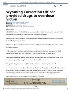 thumbnail of 2017- 04-19 Wyoming Correction Officer provided drugs to overdose victim – WKBW