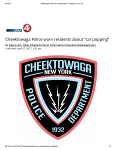 "thumbnail of 2017- 04-27 Cheektowaga Police warn residents about ""car popping"" _ wivb"