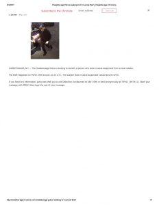 thumbnail of 2017- 05-03 Cheektowaga Police seeking to ID musical thief _ Cheektowaga Chronicle