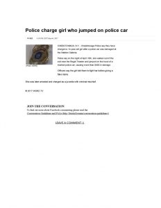 thumbnail of 2017- 05-04 Police charge girl who jumped on police car _ WGRZ