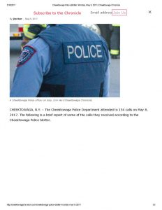 thumbnail of 2017- 05-09 Cheektowaga Police Blotter_ Monday, May 8, 2017 _ Cheektowaga Chronicle