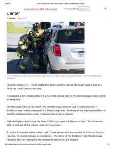 thumbnail of 2017- 05-09 Jaws of Life used at crash in front of Senior Center _ Cheektowaga Chronicle