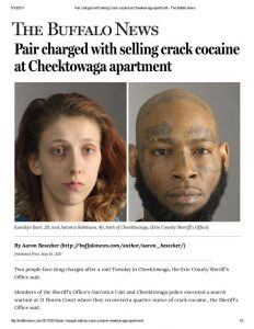 thumbnail of 2017- 05-10 Pair charged with selling crack cocaine at Cheektowaga apartment – The Buffalo News