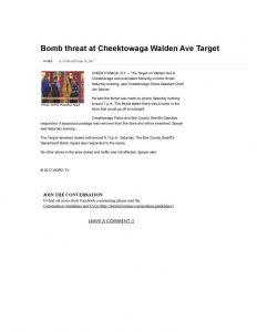 thumbnail of 2017- 05-13 Bomb threat at Cheektowaga Walden Ave Target _ WGRZ