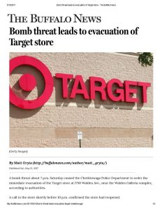 thumbnail of 2017- 05-13 Bomb threat leads to evacuation of Target store – The Buffalo News
