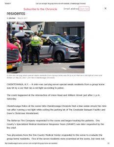 thumbnail of 2017- 05-20 Car runs red light, hits group home van with residents _ Cheektowaga Chronicle