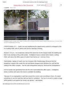 thumbnail of 2017- 05-20 Fire inside Latina Food Service HVAC unit _ Cheektowaga Chronicle