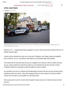 thumbnail of 2017- 05-24 Man leads Cheektowaga Police in short pursuit into Buffalo _ Cheektowaga Chronicle
