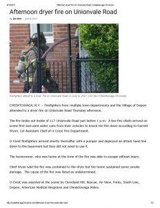 thumbnail of 2017- 06-08 Afternoon dryer fire on Unionvale Road _ Cheektowaga Chronicle