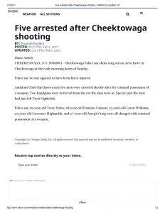 thumbnail of 2017- 07-02 Five arrested after Cheektowaga shooting – WKBW