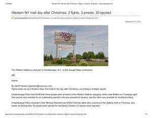 thumbnail of 2019- 12-27 Western NY mall day after Christmas_ 2 fights, 3 arrests, 30 ejected – newyorkupstate.com